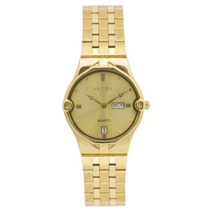 Sicura Women´s Watch SJH 3832 Silver Quartz Stainless Steel Gold Tone
