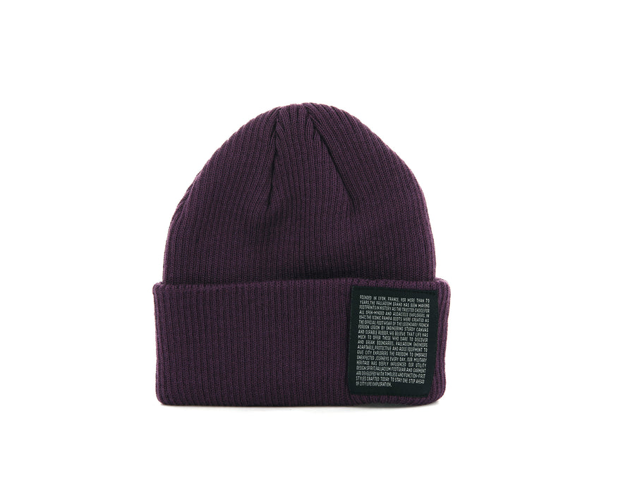 C3116-400 | SHORT BEANIE | PURPLE