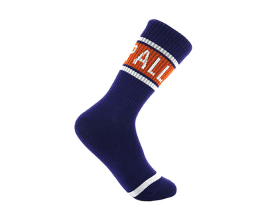 SX9105-548 | LOGO MIDDLE SOCKS | PURPLE