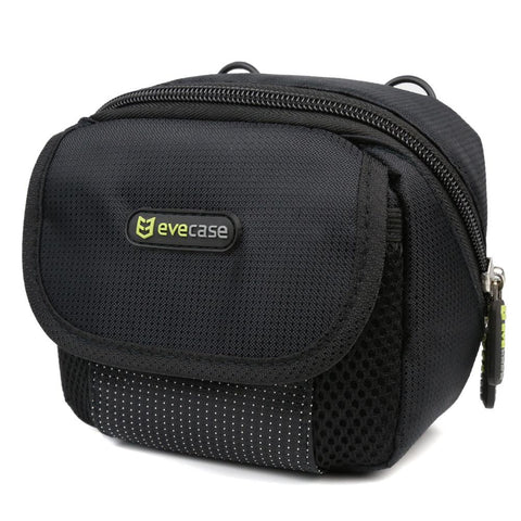 Evecase Camera Pouch Nylon Case with Strap - Black