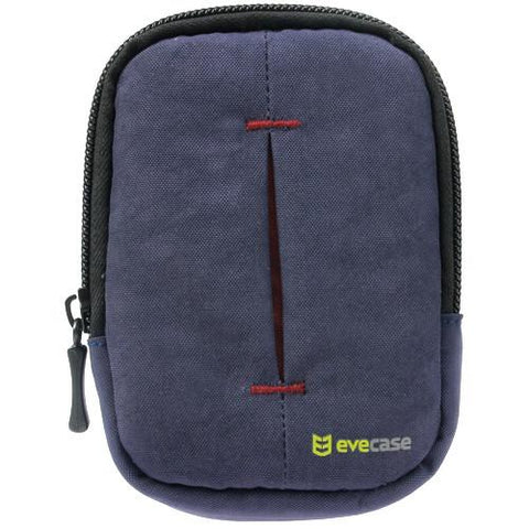 Evecase Camera Pouch Nylon Case with Strap - Ink Blue