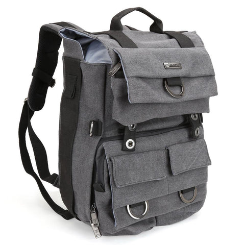 Evecase DSLR Camera Laptop Canvas Backpack with Rain Cover