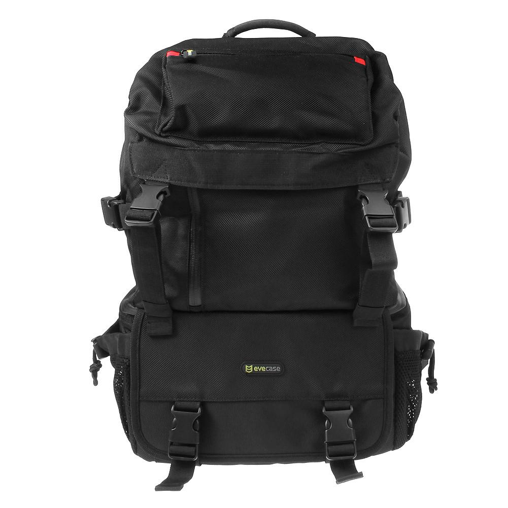 Evecase DSLR Camera Backpack Outdoor Water Resistant Multi Purpose Daypack  with Tablet Compartment and Padded Dividers for Camera and Lens