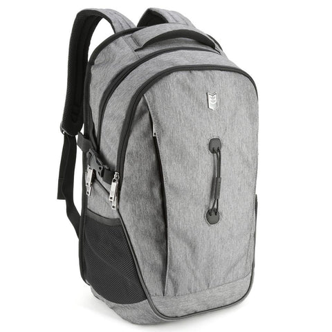 Evecase School College Backpack for Laptop / chromebook / Ultrabook up to 17.3inch - Gray