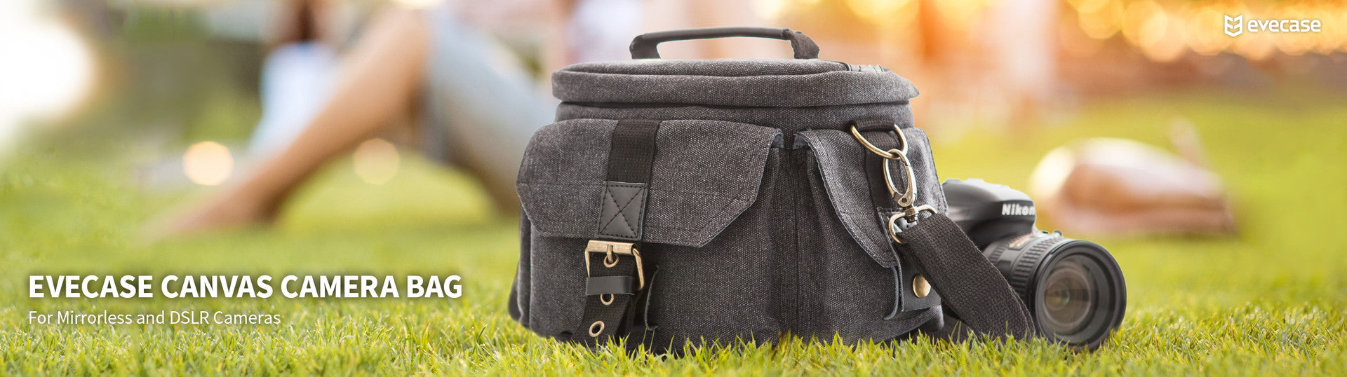 EVECASE CANVAS CAMERA BAG
