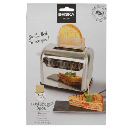 BOSKA 0130291 Toastabags® 3 Pc Set of Reusable Grilled Cheese Toaster Bags