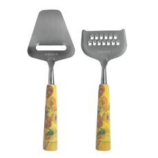 Van Gogh Mini Cheese Slicer and Grater Set - Sunflowers