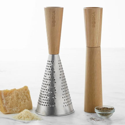 Oak Pepper Mill & Cheese Grater Set - Boska.com