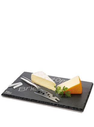 Cheese Set Cheesy L Slate Board & Knife - Boska Holland