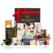 Black Gift Box red ribbon with wine, nougat and nuts and gifts for him and her