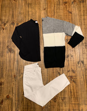 Color Block Sweater-Plus