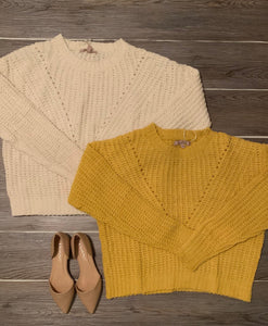 Pumpkin Spice Sweater-Ivory