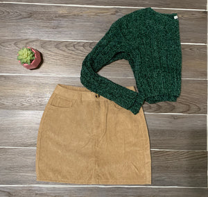On The Hunt Cropped Sweater