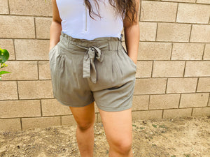Miriam Shorts Olive Green-Plus