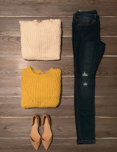 Pumpkin Spice Sweater-Mustard