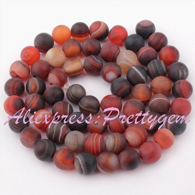Wholesale Round Agate Stone Beads For Jewelry Making Gemstone Beads Lot 15/'/' DIY