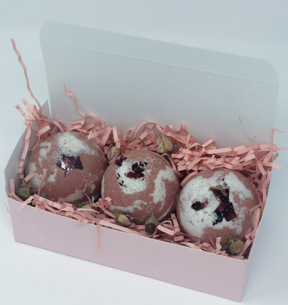 Rose Bath Bomb Set