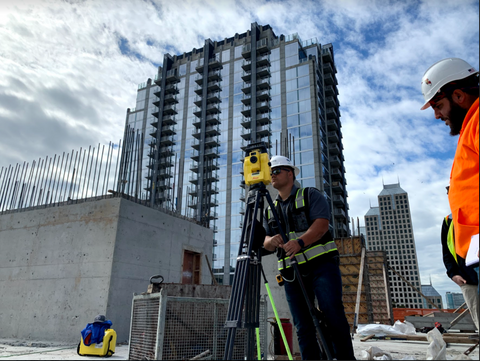 total station in the field
