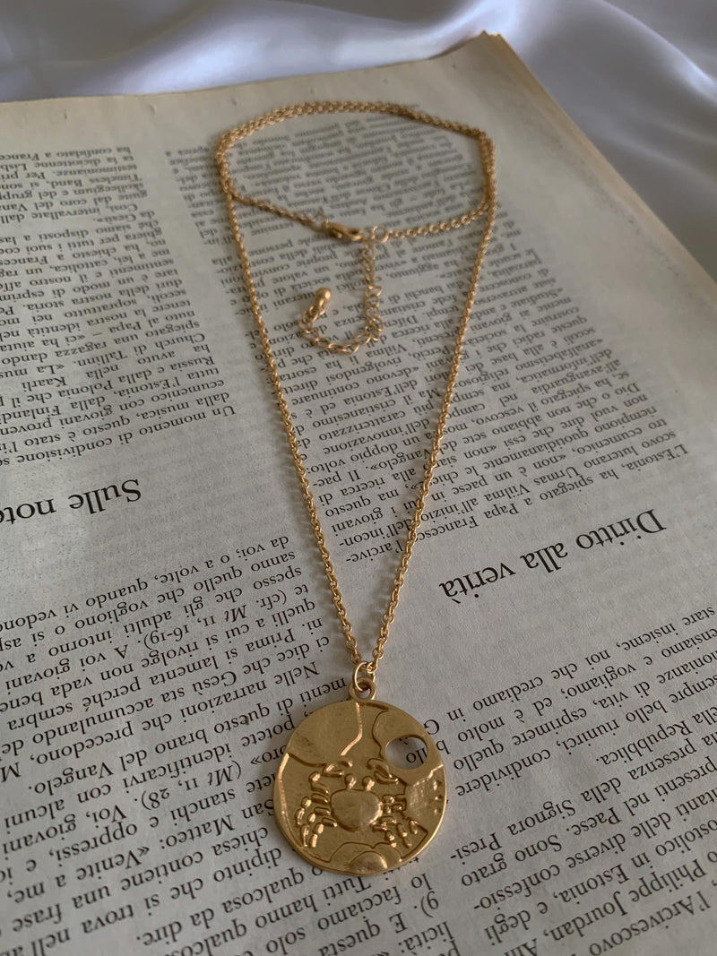 Vintage Horoscope Necklace *Gold-plated