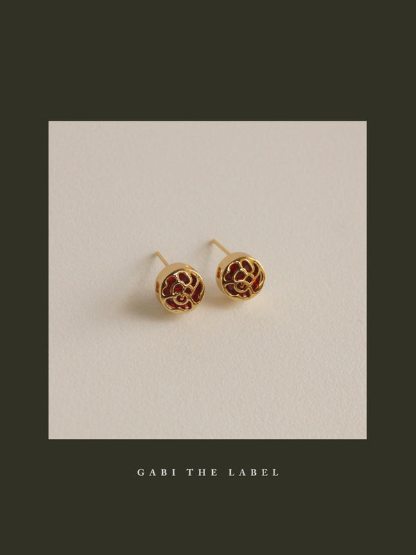 LUCID Earstuds - Ruby Red *Gold-plated