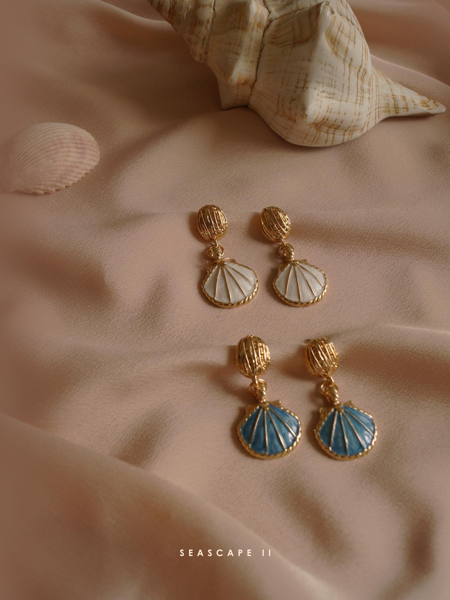 Ilya Earrings - Blue