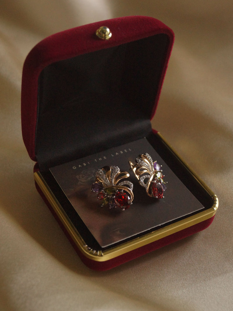 Vintage Jewellery Box - Wine Red