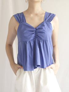 Sherry Babydoll Top - Island Blue