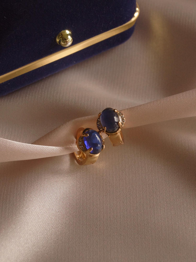 Agota Earrings - Sapphire Blue *Gold-plated // GABI EXCLUSIVE