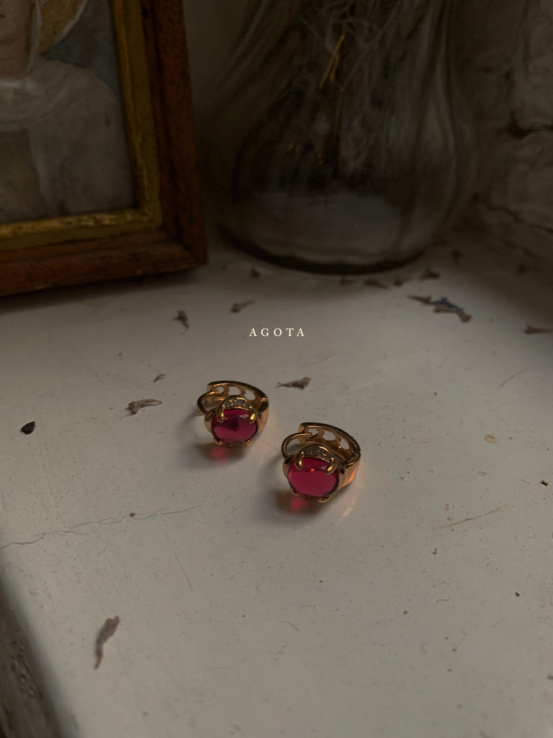 Agota Earrings - Rose Pink *Gold-plated // GABI EXCLUSIVE