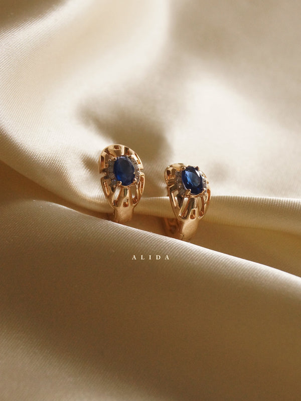 ALIDA Earrings - Dark Blue *Gold-plated // GABI EXCLUSIVE