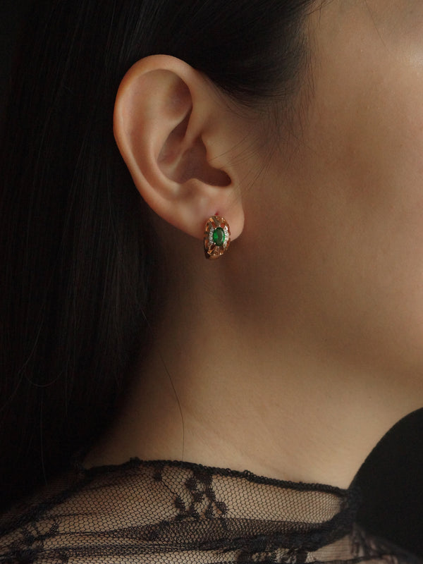 ALIDA Earrings - Jade Green *Gold-plated // GABI EXCLUSIVE