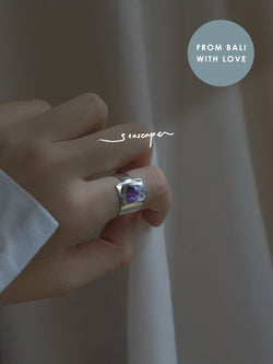KEMALA Stone Ring - Amethyst // GABI EXCLUSIVE