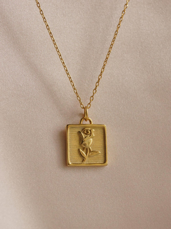 ANAIS Rose Necklace *18K Gold-filled S925