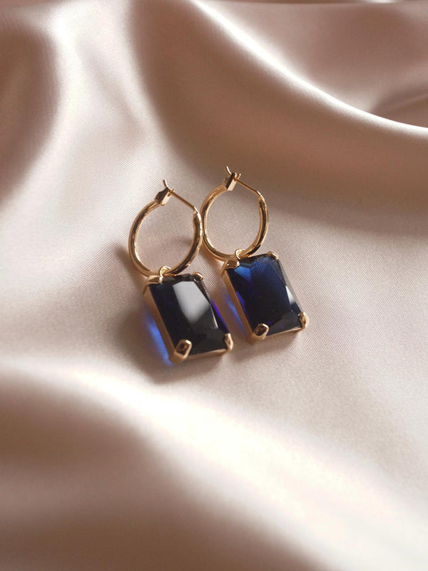 ANASTASIA Earrings - Midnight Blue *Gold-plated (GABI PREMIUM)