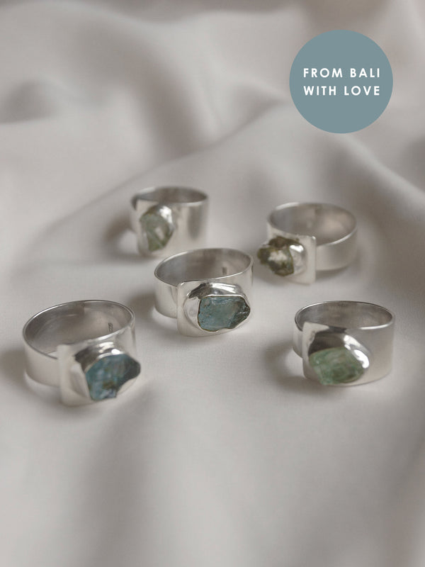 KEMALA Stone Ring - Aquamarine // GABI EXCLUSIVE