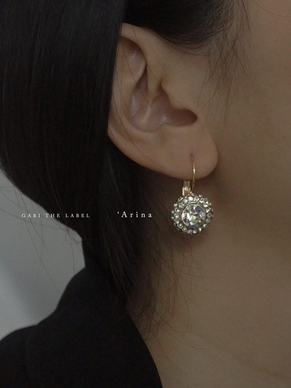 Arina Earrings – Crystal