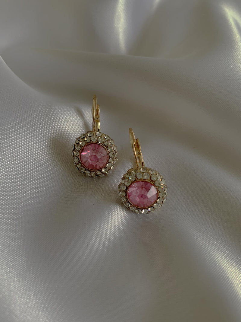 Arina Earrings – Blush Pink