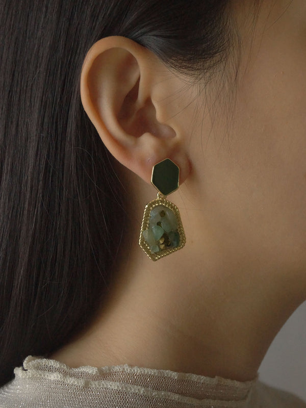 AYAH Earrings - Sea *S925 Earposts