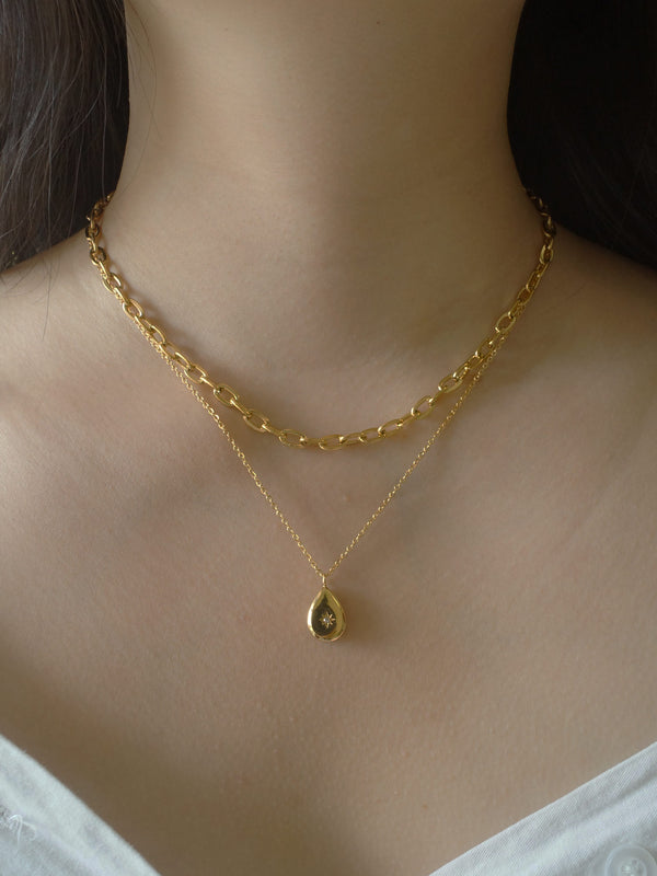 BIJOU Necklace *Gold-plated Titanium Steel