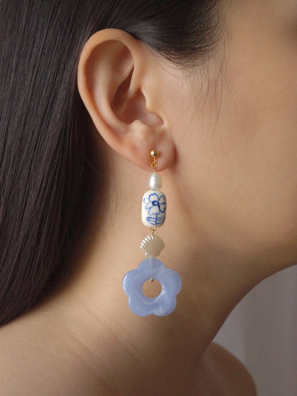 Forget-me-not Earrings - Long *18K Gold-plated