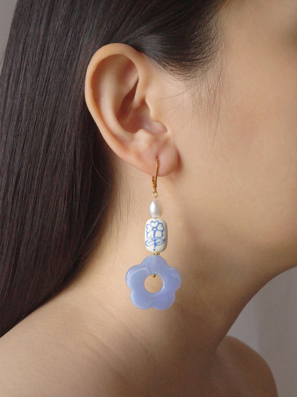 Forget-me-not Earrings - Short *18K Gold-plated