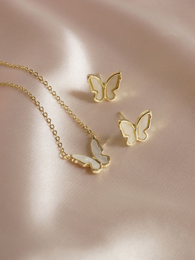 BLUEBELL Butterfly Earstuds *Gold-plated S925 Earposts