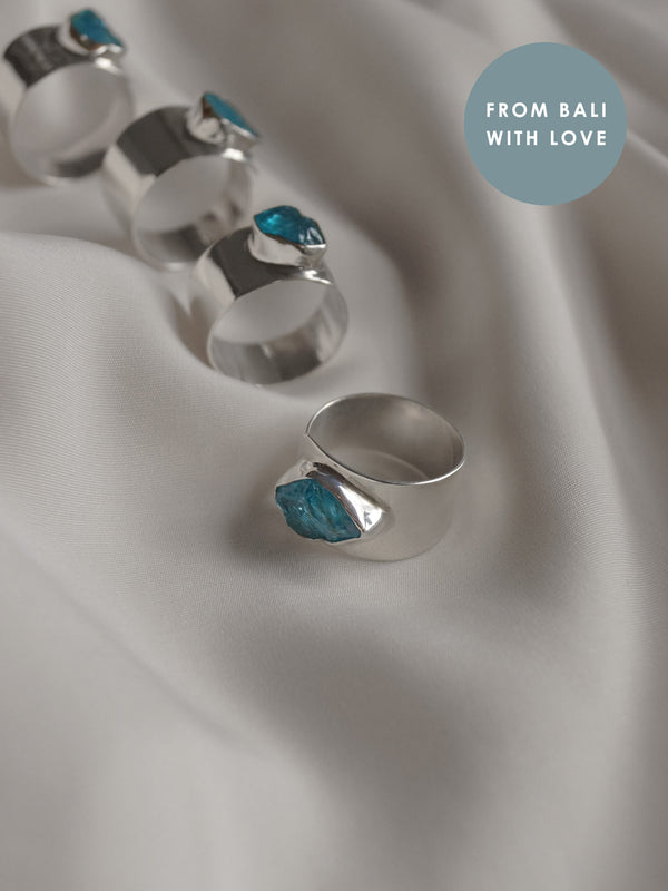KEMALA Stone Ring - Blue Topaz // GABI EXCLUSIVE