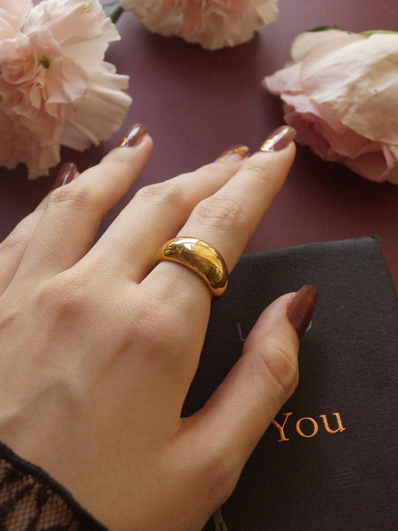 The Bold Ring - Thick *18k Gold-plated