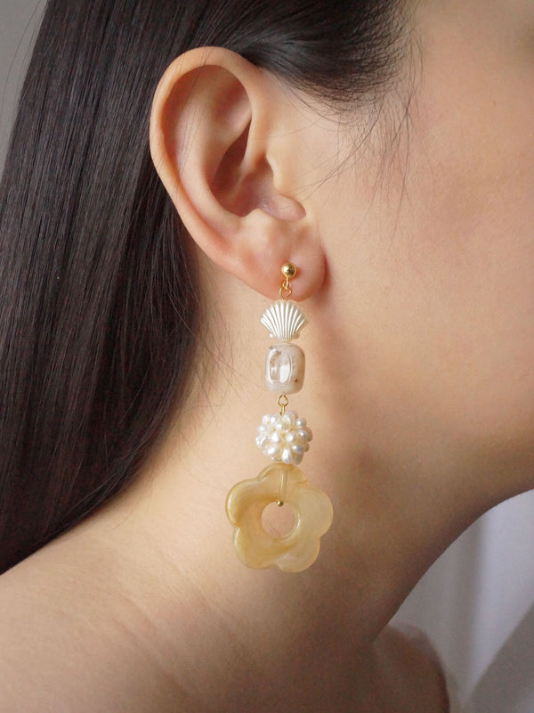 Vintage Lolita Earrings - Long *18K Gold-plated