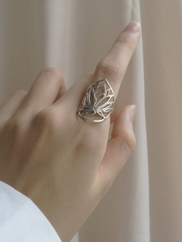 BULAN (Lotus) Ring // GABI EXCLUSIVE