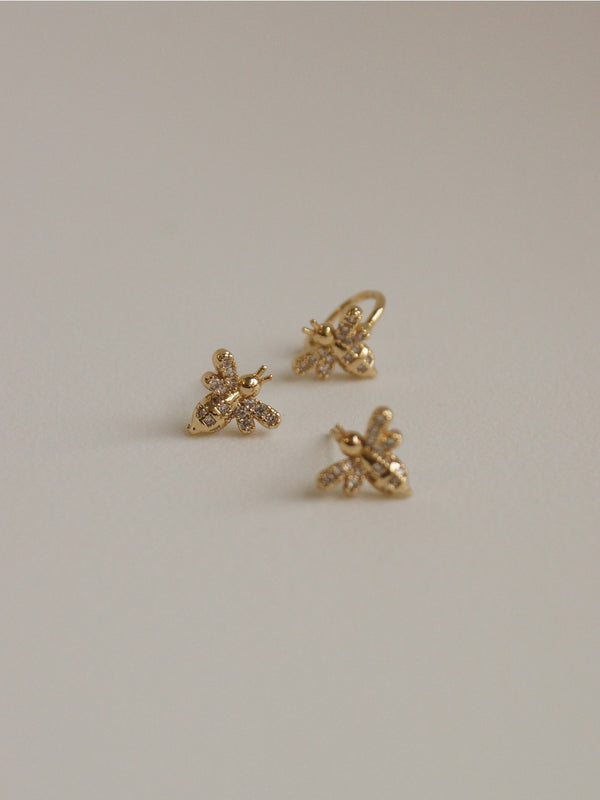 BUMBLEBEE Earstuds Set *Gold-plated S925 Earposts