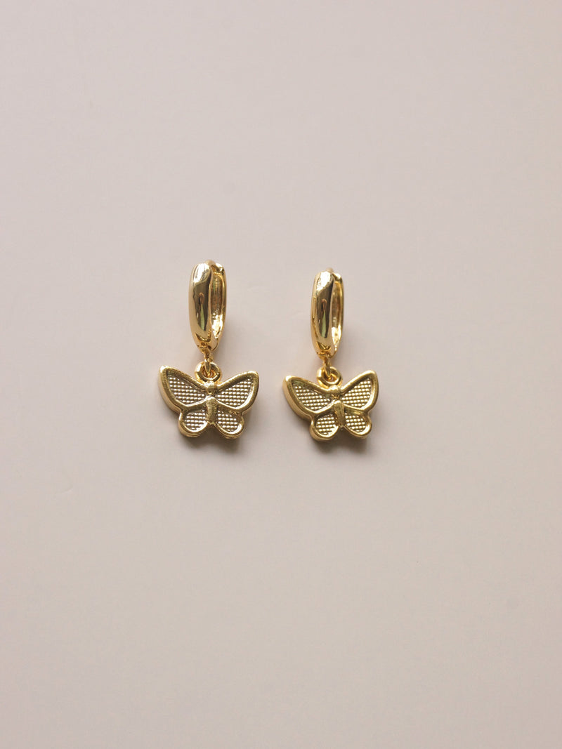Butterfly Huggies *18K Gold-plated