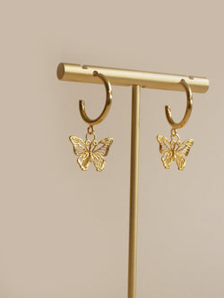 BUTTERFLY Hoops *18K Gold-plated