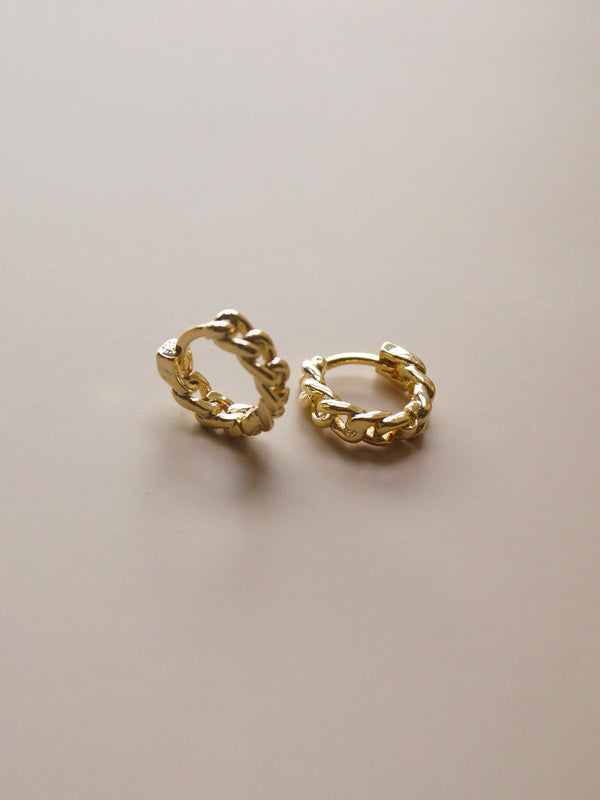 Chain Huggies - Gold *18K Gold-plated